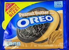 NEW NABISCO FAMILY SIZE OREO PEANUT BUTTER CREME SANDWICH COOKIES 17OZ 482g PACK