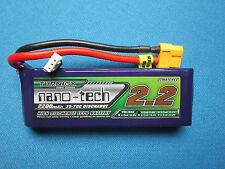 TURNIGY NANO-TECH 2200mAh 2S 35C 70C LIPO BATTERY 7.4V XT60 BUGGY TRUGGY QUAD RC
