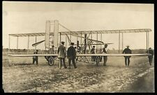 Wright Brothers 1908 Flying Aircraft Machine Le Mans France Original Wire Photo