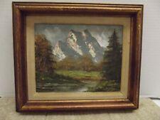 Vintage original mountain landscape painting by Arthur Duvalle w/COA Signed