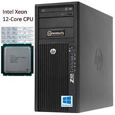12Core Extrem CPU HP Z420 Workstation Intel Xeon E5-2696v2 NVIDIA Quadro SSD W10