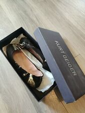 Kurt Geiger, Laytoya, Black and Gold Suede Casuals Euro 37, Real leather £150
