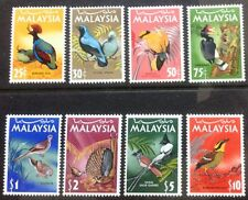 Malaysia National Birds Series 8V complete set 1965 MH (lightly hinged )