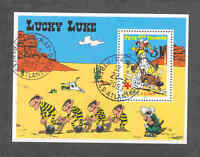 SOUVENIR SHEET LUCKY LUKE AND DALTONS - OBLITERATED