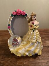 Disney Princess Belle picture frame snow globe Flaw In One Flower