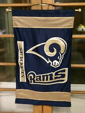 """St. Louis RAMS 26"""" X 45"""" BANNER FLAG ~ Used ~"""