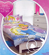 Girls Kids Disney Princess CINDERELLA SINGLE Duvet/Doona/Quilt Cover SET BNIP