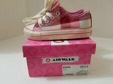 New listing Airwalk Girls Size 6 Pink Plaid Kicks Sneaker Tennis Shoes ~ style 75111