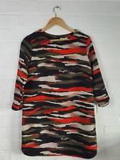 H&M Army Style Patterned Shift Tunic Dress Size M UK 14