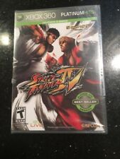 Street Fighter IV Microsoft Xbox 360 Brand New Factory Sealed Platinum Hits Gray