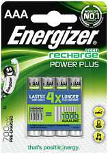 4 x AAA Energizer Accu - Recharge Power Plus - Rechargable Batteries