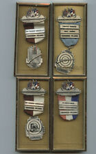 4 1960 Pensacola Rifle And Pistol Club Shooting Competition Medals