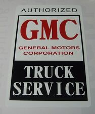 Vintage Authorized GMC Truck Service Metal Sign