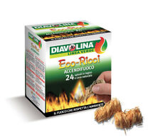 Package 24 cubes firelighters Diavolina eco ricci for fireplaces stoves grill