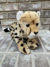 "FAO Schwarz Cheetah Cub Toy Plush 18"" Leopard Stuffed Animal Soft"