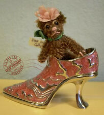 "Fab Artist Teddy Roosevelt Bear Co miniature mohair 2"" hand made Cathy Peterson"