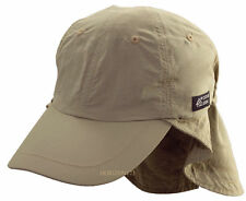 Coolmax-Supplex Jogging-Fishing-Tennis-Hiking Cap-Head-Face-Neck Flap Hat-Tan
