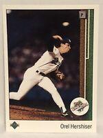 1989 Upper Deck Orel Hershiser Baseball Card LA Dodgers MLB HOF #667 88 WS MVP