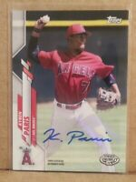 2020 Topps Pro Debut Kyren Paris SSP Autograph, PD-90 ANGELS Auto RC Rookie Card