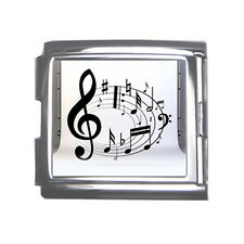 New Music Notes Mega Link Italian Charm 18mm Free Shipping