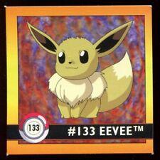 POKEMON STICKER ENGLISH CARD 50X50 1998 NORMAL N°  133 EEVEE EVOLI