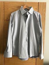 Men's Balmain Pale Blue 100% Cotton Long Sleeved Shirt Size L (40-42)