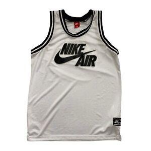 Nike Air Men's Black/White Mesh Basketball Vest - Medium