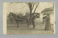 Lisbon IOWA RP 1909 R.F.D. MAIL DELIVERY WAGON Mailman U.S.P.S. nr Mt. Vernon