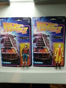 Back To The Future Part II Super 7 ReAction Figures Lot Of 2 Future Marty & Doc