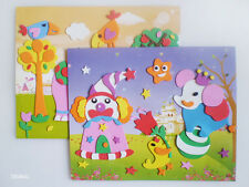 2x Child Foam Art Board, Self Adhesive Sticker, DIY Kid Craft, Felt, 3D Style
