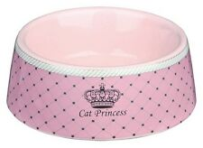 24780 Trixie Small Ceramic Pink Princess CAT Bowls 0.18 l/ø 12 cm