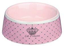 Set di 2-TRIXIE piccola in ceramica principessa rosa ciotole gatto 0.18 l/ø 12 cm 24780