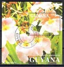 Fleurs - Orchidées Guyana (138) bloc oblitéré