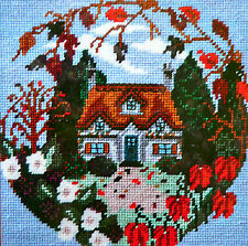 Tapestry kit Twilleys Autumn Cottage full colour printed 10hpi canvas & thread