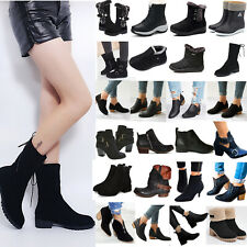 Women's Winter Thermal Low Heels Ankle Boots Ladies Outdoor Casual Warm Booties