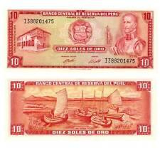 P100c 1974 10 SOLES  UNC PERU p 100c