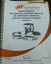 Ingersoll Rand Dd158hfa Rc Vibratory Dual Drum Compactor Service Repair Manual