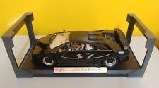 1996 Lamborghini Diablo SV 1:18 diecast by Maisto BLACK Model Display Stand