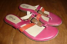 EURO-SOFT by SOFFT *CLEO* PINK COMBO LEATHER THONG SANDALS - LADIES 9