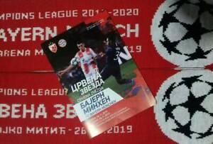 Programm Crvena Zvezda Roter Stern VS FC Bayern M.Champions League 26.11.2019