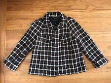 Banana Republic brown wool Geometric Peacoat jacket M