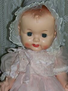 Beautiful Big Hard Plastic Bent Knee Roddy Baby Doll