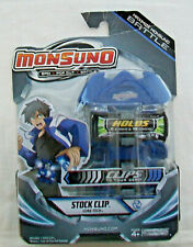 MONSUNO STOCK CLIP CORE-TECH BLUE Holds 2 Cores & 10 Cards BACKING CARD CREASED