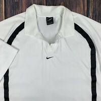 VTG 90s Nike Andre Agassi Dri-Fit Polo SS Shirt Mens Large Center Swoosh White