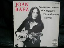 VINYL 45 T – FOLK ROCK 60'S – JOAN BAEZ – PACK UP YOUR SORROWS + 3 – 1966 - EX !