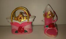Disney Aurora Sleeping Beauty Shoe Purse  Ornaments Set Of 2