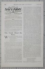 1901 PRINT 18th JULY NAVY & ARMY EDITORIAL NEWS SNIPPETS BRITISH EMPIRE