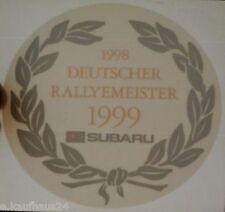 Aufkleber DRM DEUTSCHER RALLYE-MEISTER 1999 SUBARU IMPREZA WRC Sticker