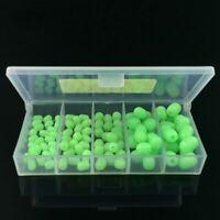 5X(100pcs Oval Soft Luminous Fishing Beads Sea Fishing Lure Floating Float B8T1