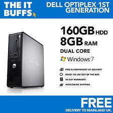Dell OptiPlex-Dual Core 8GB Ram 160GB HDD Windows 7 Computadora Pc De Escritorio